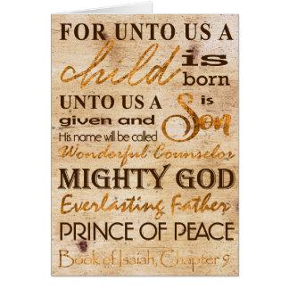 Unto Us A Child Is Born Modern Unique Christmas Card