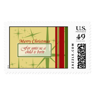 Unto Us a Child is Born Postage Stamp