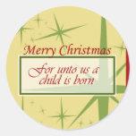 Unto Us a Child is Born Stickers