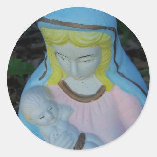 Unto You Is Born a Savior Classic Round Sticker