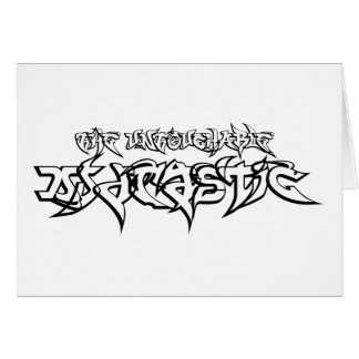 Untouchable DJ Drastic & TCN Logo [Note Card] Stationery Note Card