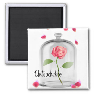 Untouchable Rose Under Glass Magnet