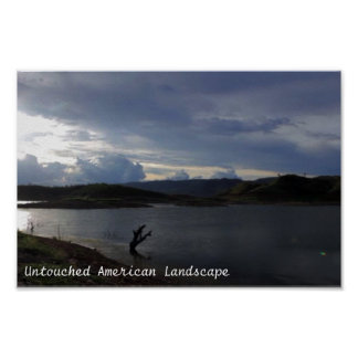 Untouched American Landscape Rivers and Skyviews Poster