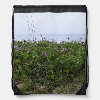 Untouched Beach Drawstring Bag