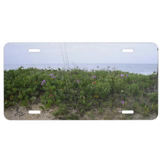 Untouched Beach License Plate