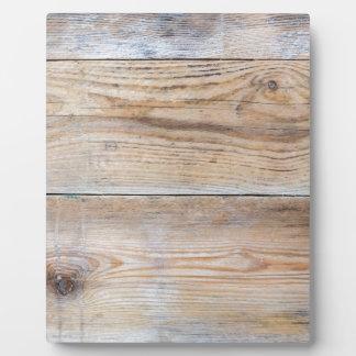 Untreated wood plaque