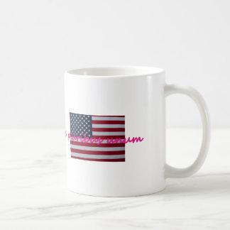 Unum rosado del pluribus de e taza de café
