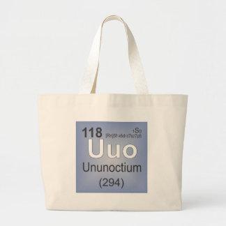 Ununoctium Individual Element - Periodic Table Canvas Bag