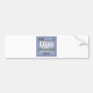 Ununoctium Individual Element - Periodic Table Bumper Sticker