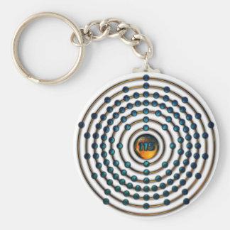 Ununpentium Molecule Basic Round Button Keychain
