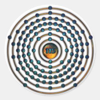 Ununpentium Molecule Round Sticker