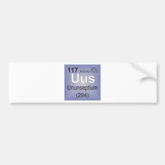 Ununseptium Individual Element - Periodic Table Bumper Stickers