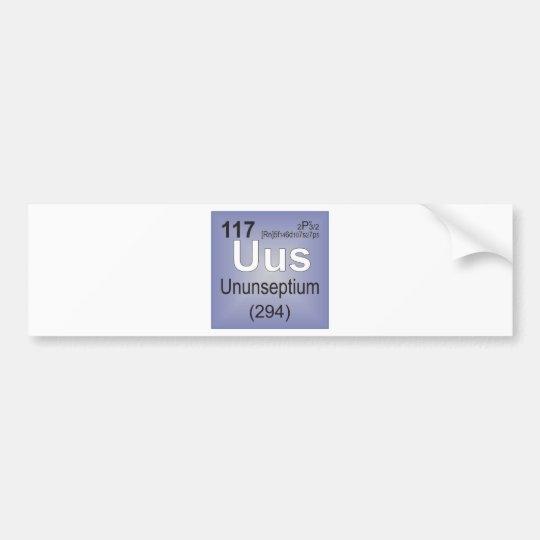 Ununseptium Individual Element - Periodic Table Bumper Sticker