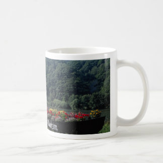 Unused boat used as flower bed, Mannheim, Germany Coffee Mug