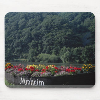 Unused boat used as flower bed, Mannheim, Germany Mousepads