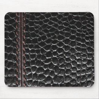 Unusual black leather Mousepad