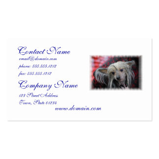 Unusual Chinese Crested Business Card Template