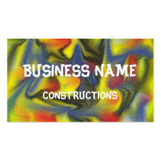 Unusual colorful art business card