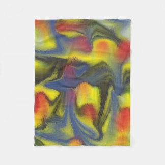 Unusual colorful art fleece blanket
