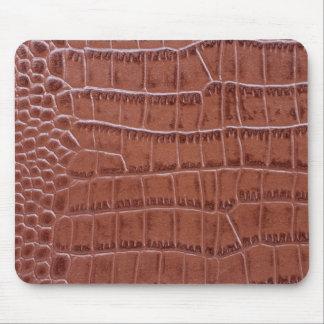 Unusual crocodile leather Mousepad