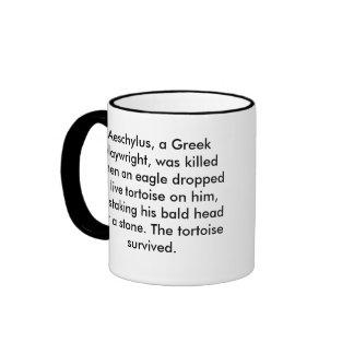 Unusual Death: Aeschylus Ringer Coffee Mug