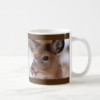 Unusual DEER LICKING ITS LIPS Mug
