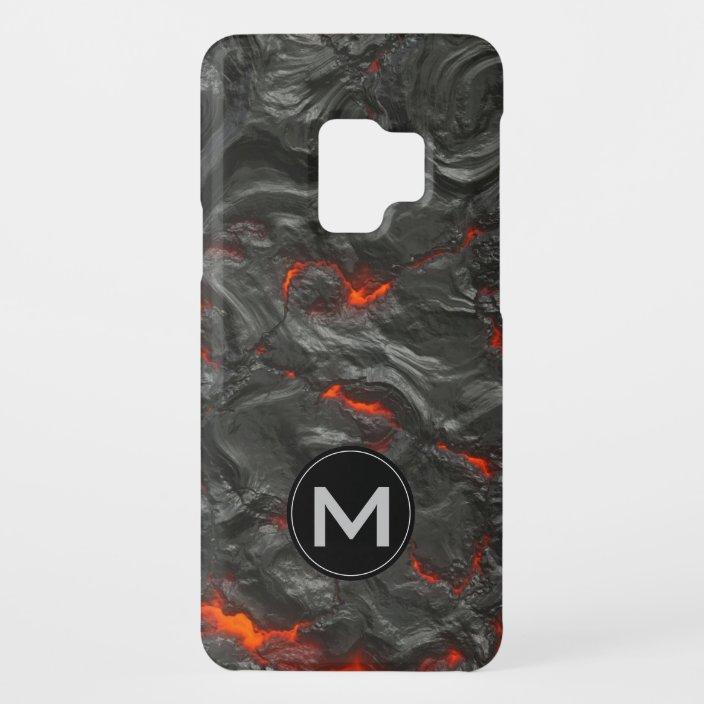 Unusual Fiery Molten Volcanic Lava With Monogram Case Mate Samsung Galaxy Case Zazzle Com