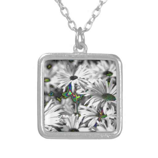 unusual flowers, effect necklaces