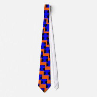 Unusual Fun Summer Men's Ties Blue and Orange 2