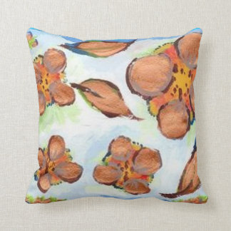 """UNUSUAL GOLD FLOWERS Throw Pillow 20"""" x 20"""""""