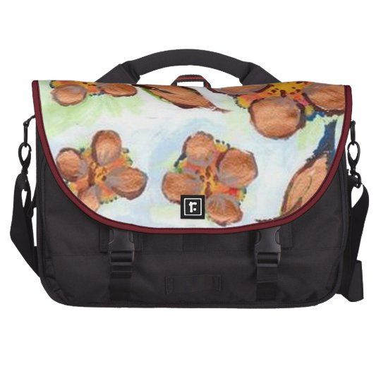 UNUSUAL GOLDEN FLORA Rickshaw Commuter Laptop Bag