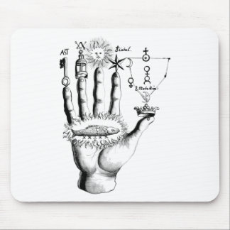 Unusual Hand Sun Alchemy Steampunk Mouse Pad