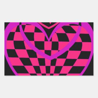 Unusual Hearts Gifts Valentines Day CricketDiane Rectangular Sticker