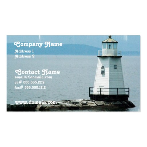 Unusual Lighthouse Busness Card Double-Sided Standard Business Cards (Pack Of 100)