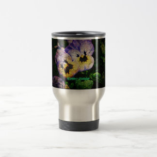 Unusual Pansies Travel Mug