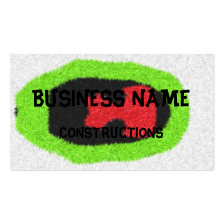 Unusual pattern business card