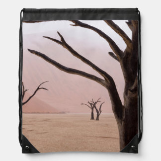 Unusual rainy weather conditions in early morning drawstring backpack