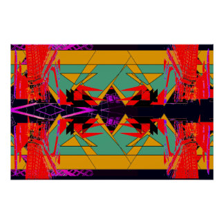 Unusual Red Abstract Extreme Design Poster X1