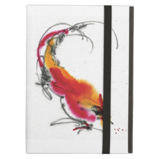 Unusual Rooster. Calligraphy and watercolor. iPad Air Cover