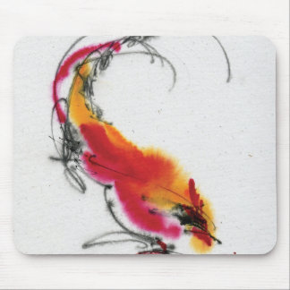 Unusual Rooster. Calligraphy and watercolor. Mouse Pad