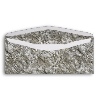 UNUSUAL SILVER LIGHT WHITE GREY GRAY TEXTURED BACK ENVELOPE