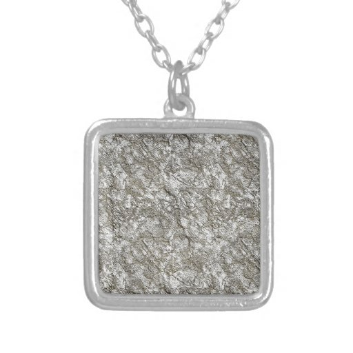 UNUSUAL SILVER LIGHT WHITE GREY GRAY TEXTURED BACK PENDANT