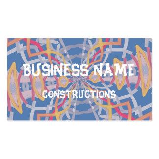 Unusual strange pattern business card