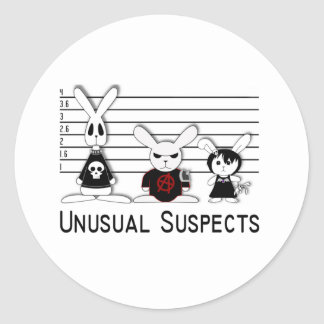 Unusual Suspects Classic Round Sticker