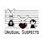 Unusual Suspects Postcard