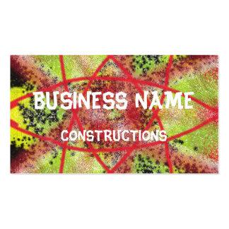Unusual trendy pattern business card