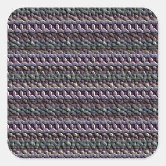 Unusual trendy pattern square sticker