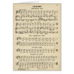 Unusual Vintage Christmas Music Sheet Songs Card