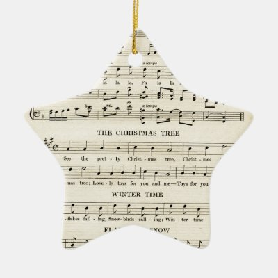 Christmas Music Sheets.Vintage Christmas Sheet Music With Festive Violin Ceramic Ornament