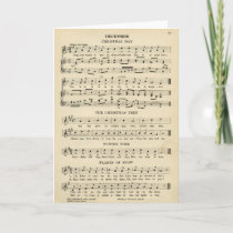 Unusual Vintage Christmas Music Sheet Songs Holiday Card